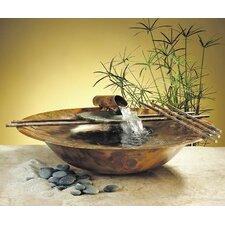 Copper Nature Bowl Medium Tabletop Fountain
