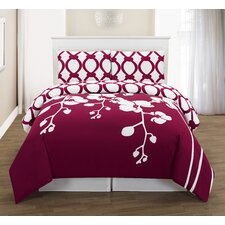 April 3 Piece Full/Queen Duvet Cover Set