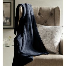 Myrcella Textured Fleece Throw Blanket