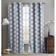 Crystina Jacquard Curtain Panel (Set of 2)