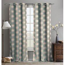 Crystina Jacquard Curtain Panel (Set of 2)