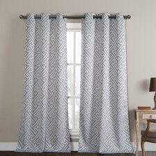 Araroma Jacquard Curtain Panel (Set of 2)