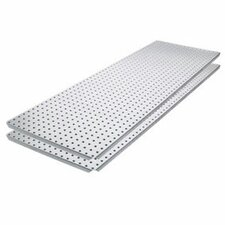Metal Pegboard Panel with Flange (Set of 2)