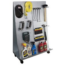 """""""A"""" Frame Metal Pegboard WOW Tool Cart with Wheels"""