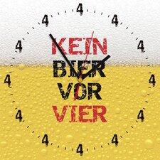 Analoge Wanduhr Kein Bier Vor Vier