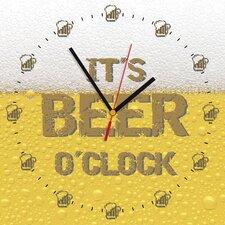 Analoge Wanduhr It's Beer O'Clock