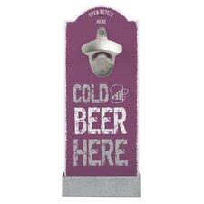 Wandflaschenöffner Cold Beer Here