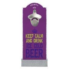 Wandflaschenöffner Keep Calm And Drink Ice Cold Beer