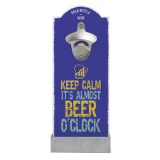 Wandflaschenöffner Keep Calm it's Almost Beer O'Clock
