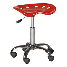 Height Adjustable Workshop Chair with Casters (Set of 2)