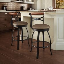 """Library Luxe Style 25.75"""" Swivel Bar Stool"""