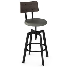 Symmetry Adjustable Height Swivel Bar Stool