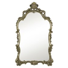 Traditional Detailed Elegant Silver and Black Antique Wall Mirror