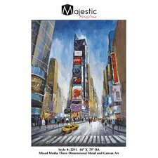 New York Time Square Urban Cityscape Painting Print on Canvas