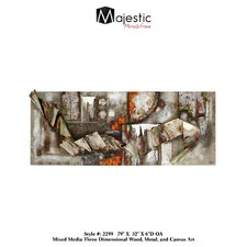 Abstract 3D Industrial Scenic Painting Print on Canvas
