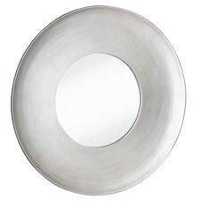 Simple Modern Silver Leaf Circular Framed Glass Wall Mirror