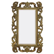 Large Rectangular Traditional Antique Bronze Beveled Glass Wall Mirror