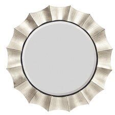 Contemporary Round Bevel Wall Mirror