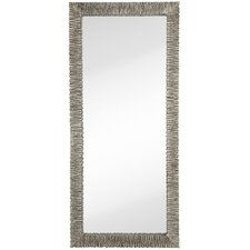 Large Narrow Modern Mirror with Antique Silver Leaf Frame