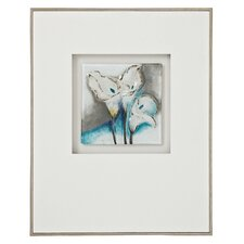 Beautiful Floral 3D Glass Framed Painting Print