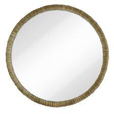 Simple Circular Textured Framed Glass Wall Mirror