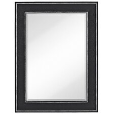 Rectangle Accent Mirror with Black Crocodile Frame