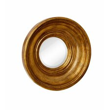 Round Circular Antique Gold Beveled Glass Framed Hanging Glass Wall Mirror