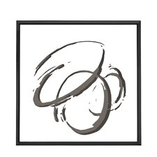 Chic Square Abstract Circle Framed Painting Print on Canvas