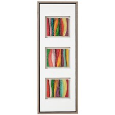 Stylish And Colorful Hand Painted Glass Framed Painting Print on Canvas