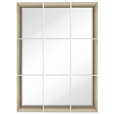 Large 9 Piece Mirror Set with Antique Silver Frame