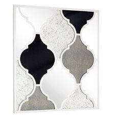 Assorted Antique Mirrors with Decorative White Lacquer Lattice Pattern