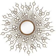 Glamourous Starburst Circular Shiny Decorative Glass Wall Mirror