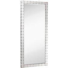 Large Modern Stainless Steel Rectangular Beveled Glass Wall Mirror
