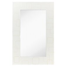 Contemporary Accent Mirror with White Lacquer Frame