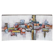 Large Abstract Mixed Media Painting Print on Canvas