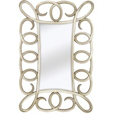 Large Contemporary Mirror with Decorative Antique Silver Frame