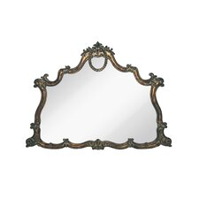 Curved Traditional Detailed Bronzed Antique Wall Mirror