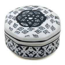 Small Medallions Porcelain Box