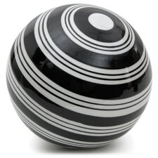 Stripes Decorative Ball Sculpture