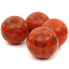 Sponged Porcelain Decorative Ball Sculpture (Set of 4)
