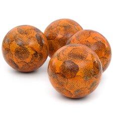 4 Piece Sponged Decorative Ball Sculpture Set