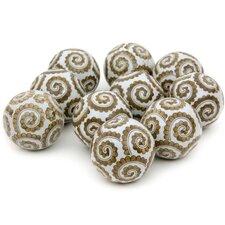 Golden Spirals Decorative Ball Sculpture (Set of 10)