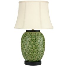 """Feather Design  25.5"""" H Table Lamp with Bell Shade"""