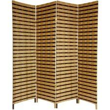 "71"" x 70"" Jute Shoji 4 Panel Room Divider"