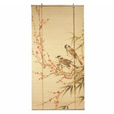 Love Birds Bamboo Roller Blind