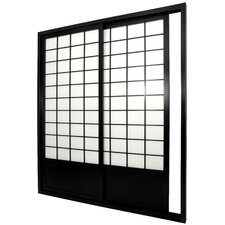 """83"""" x 73.5"""" Double Sided Sliding Door Room Divider"""