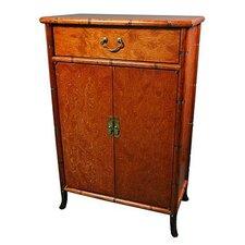 Burl Wood Shoe Cabinet