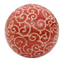 Curling Vines Decorative Ball Sculpture (Set of 4)