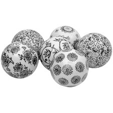 6 Piece Decorative Ball Sculpture Set