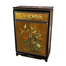 Asian Leaf Shoe Storage Cabinet